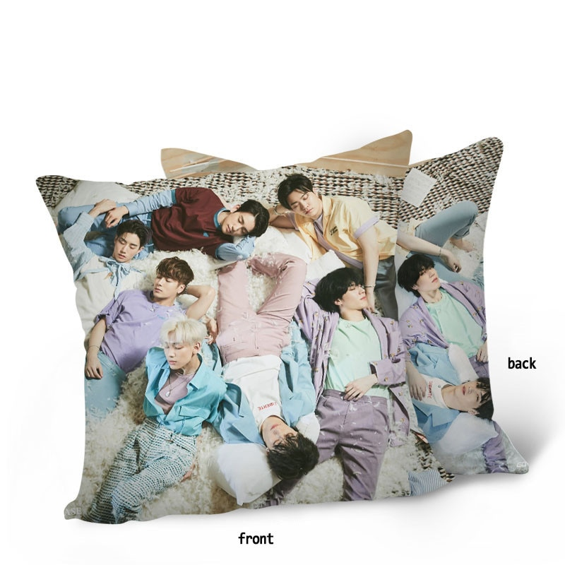 GOT7 New Album DYE Double Sides Pillow Pillow Case NOT BY THE MOON Car Cushion Home Decor JinYoung Mark BAMBAM Fans Collection