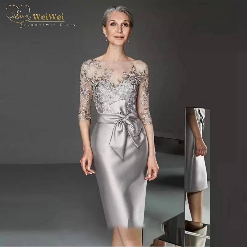 Атласное-платье-для-матери-невесты-элегантное-вечернее-платье-из-тюля-длиной-до-колена-с-рукавом-«летучая-мышь»-и-коротким-рукавом-2021