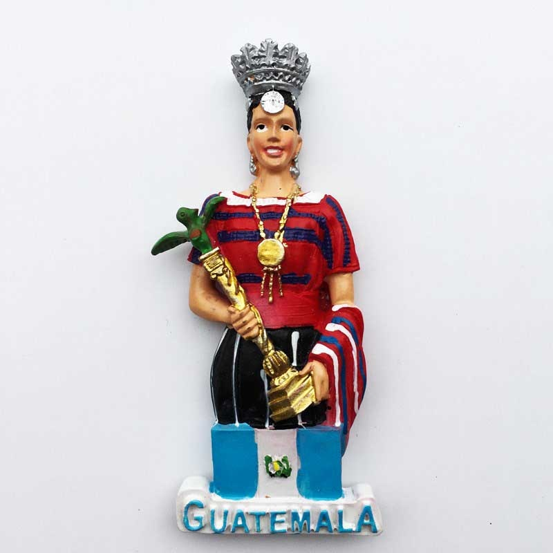 Guatemala fridge magnet tourist Souvenirs 3d Beauty Contest Queen Magnetic Refrigerator Stickers Collection Decoration Gift idea tallinn estonia fridge magnets tourist souvenir 3d resin crafts magnetic refrigerator stickers collection decoration gifts