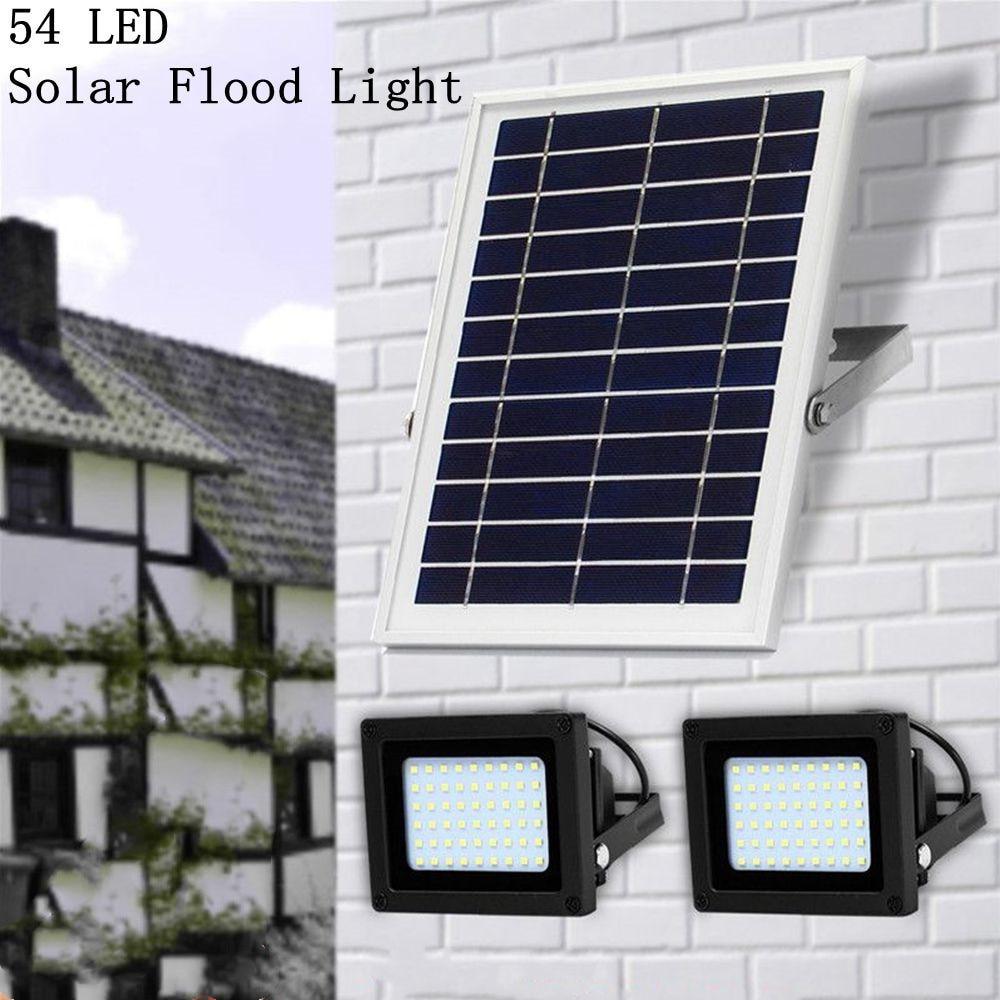 2PSC 54 Led 2835smd LED luz Solar reflectores Control de luz IP65 impermeable exterior jardín seguridad focos Luz de calle