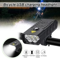 3 7v bike headlight rechargeable built in battery ipx5 waterproof outdoor mtb road bike cycling accessories 4 led light modes