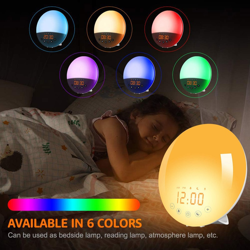 ins hot creative silicone alarm clock wake up chicken night light silicone bedside lamp kids room night light free shipping Creative FM radio dual alarm clock colorful atmosphere lantern wake-up light home bedroom bedside night light USB charging