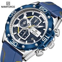 NAVIFORCE Sport Watches for Men Top Brand Luxury Military Silicone Wrist Watch Man Clock Fashion Qua