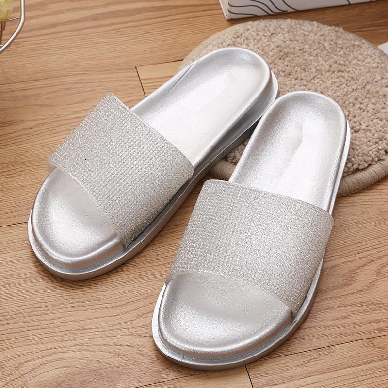 الصيف لامعة داخلي المنزلية الحمام النعال عدم الانزلاق أحذية LD069-32045