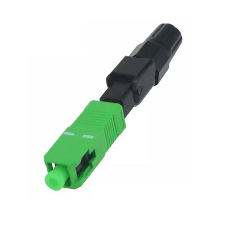 100PCS/box  SC APC fiber optic SC APC Single-mode Fast connector SC APC FTTH Fiber Optic quick Connector Free shipping enlarge