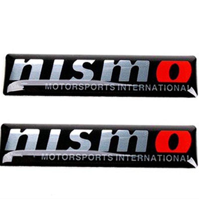 Oferta, 2 uds., pegatina decorativa 3D, emblema de carrocería para coche, calcomanía de insignia para Nismo Nissan Qashqai x-trail Juke Teana, estilismo para coches soleados