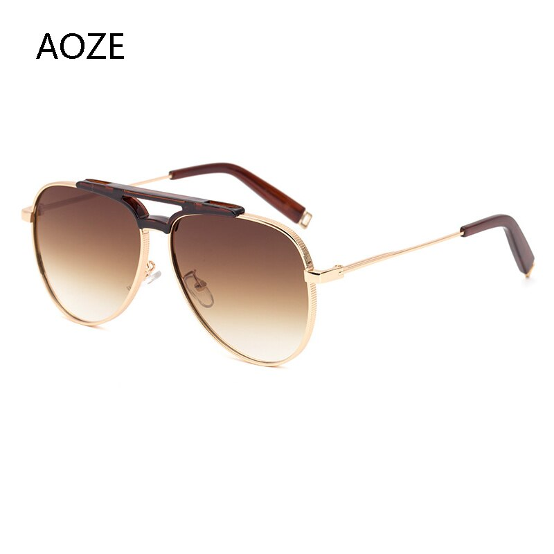 2020 de alta qualidade moda masculina gradiente óculos de sol marca de luxo designer piloto masculino óculos de sol unidade anti-reflexo uv400