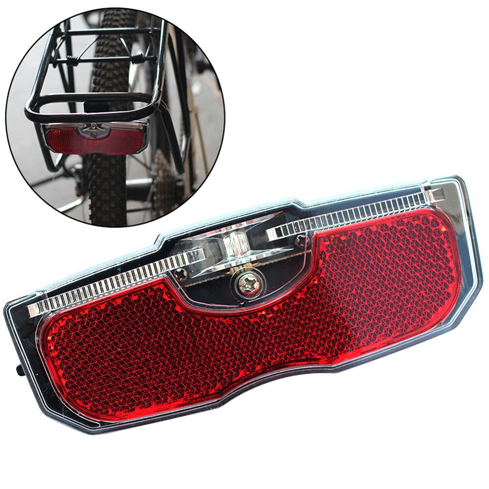 Bike Cycling Bicycle Rear Reflector Tail Light Bike Light For Luggage Rack No Battery Aluminum Alloy Reflective Light