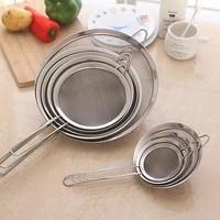 stainless steel fine wire mesh oil skimmer strainer flour sifter sieve colander kitchen tools accessories tamis farine