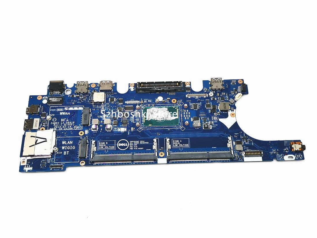 Placa-mãe do portátil LA-A891P para dell latitude e5250 sr23x I5-5300 cpu notebook mainboard ddr3l testado 100% ok