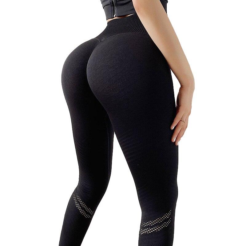 CHRLEISURE Leggings de Yoga sin costuras malla Fitness gimnasio Push Up secado rápido Legging Stripe Running deportes mujeres entrenamiento Sweatpant