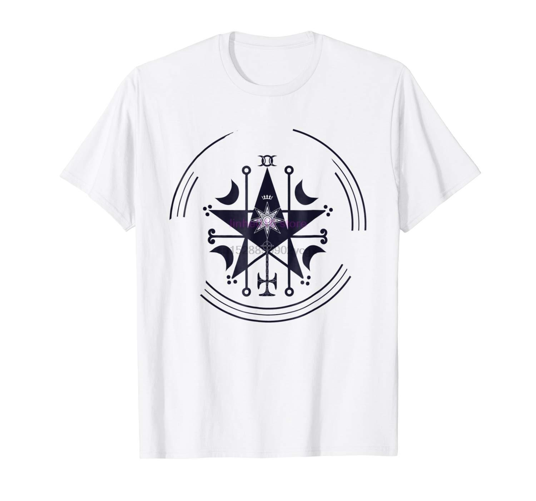 Camiseta de marca para hombre, camiseta Astaroth Sigil, camiseta de pentagrama mágico para ritos ocultos (1)