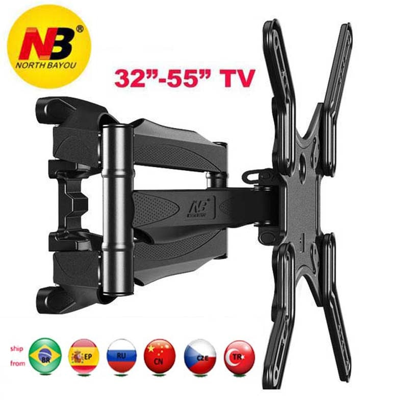 """NB P5 32 """"-52"""" 42 """"50"""" 6 brazo VESA400X400 200X200 retráctil movimiento completo LCD TV montaje pared brazo movible soporte tv mecanismo de elevación"""
