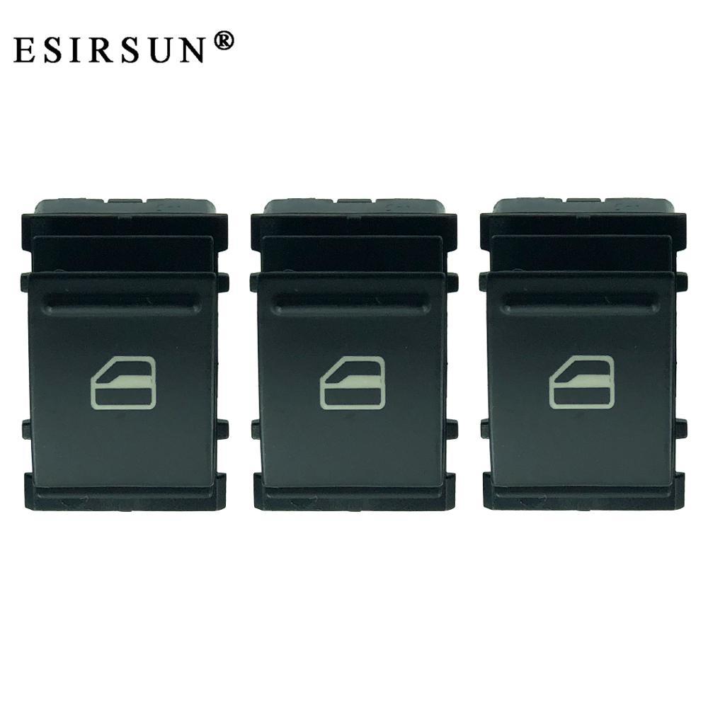 Esirsun 3 uds. Elevador de ventana potencia interruptor único apto para VW Golf MK5 MK6 Passat Jatta B6 tizan Conejo, 7L6959855B