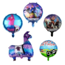 Video Game Llama Balloon Birthday Party Decoration Kids Pinata Foil Balloons Alpaca Ballon Children
