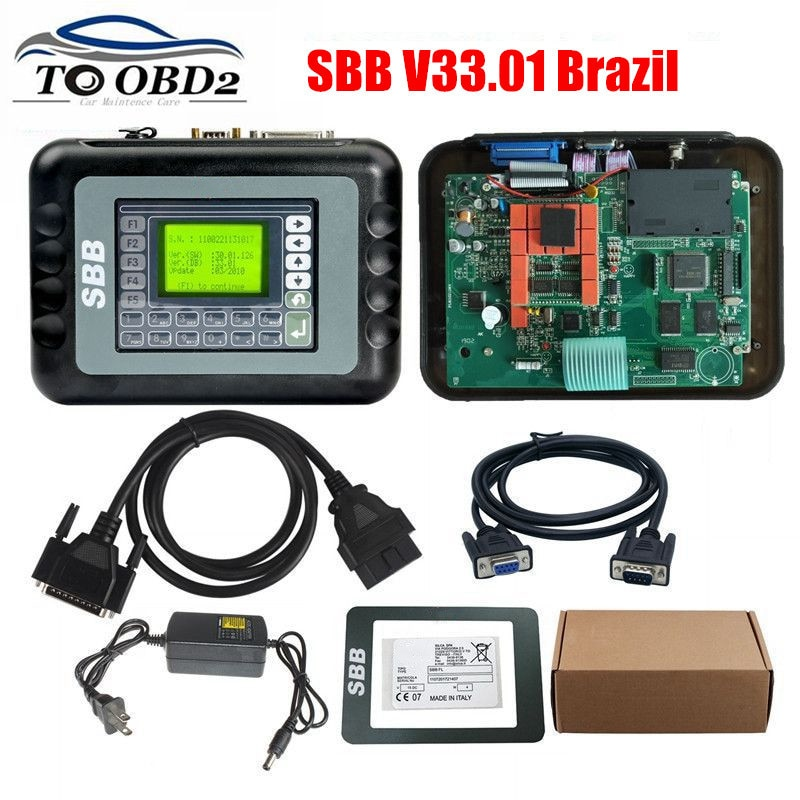 SBB V33.01 Real Version support Portuguese Special For Brazil Cars 33.01 Brasil For GM Pin Code Auto Key Programmer Add Function