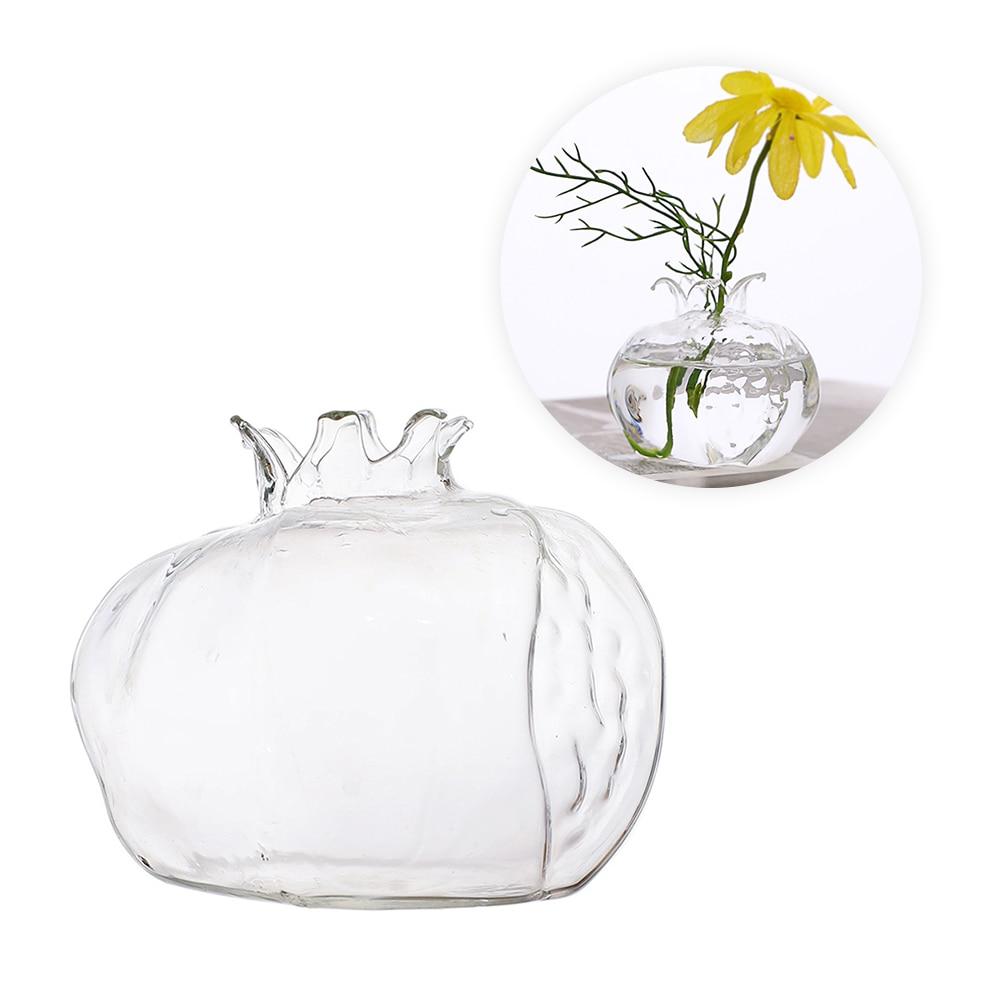 Mini jarrón de cristal transparente original de Granada, maceta de flores hecha a mano, maceta hidropónica, artesanía, escritorio, adorno para el hogar