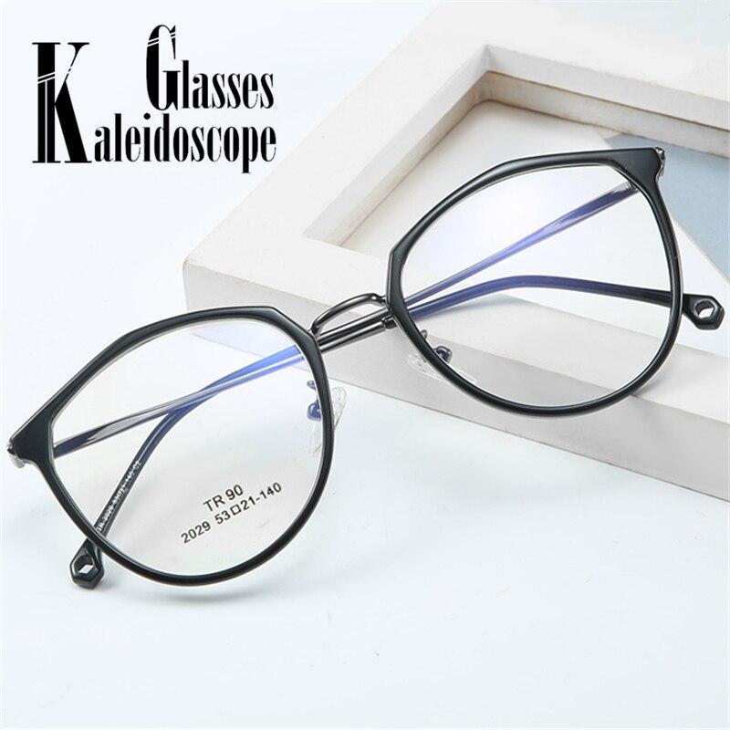 Transparent Glasses Frame Women Men Retro Polygon Metal Eyeglasses Frames Clear Lens Optical Myopia Spectacles Eye Glasses