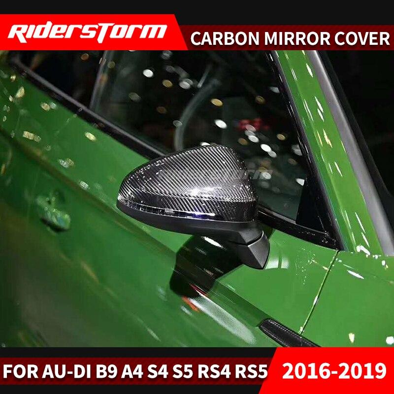 Protector de carbono para espejo para au-di A4 B9 A5 S4 S5 RS4 RS tapas de espejo de ala lateral (aspecto de carbono) 2017 reemplazar 2015 2016 2018 2019