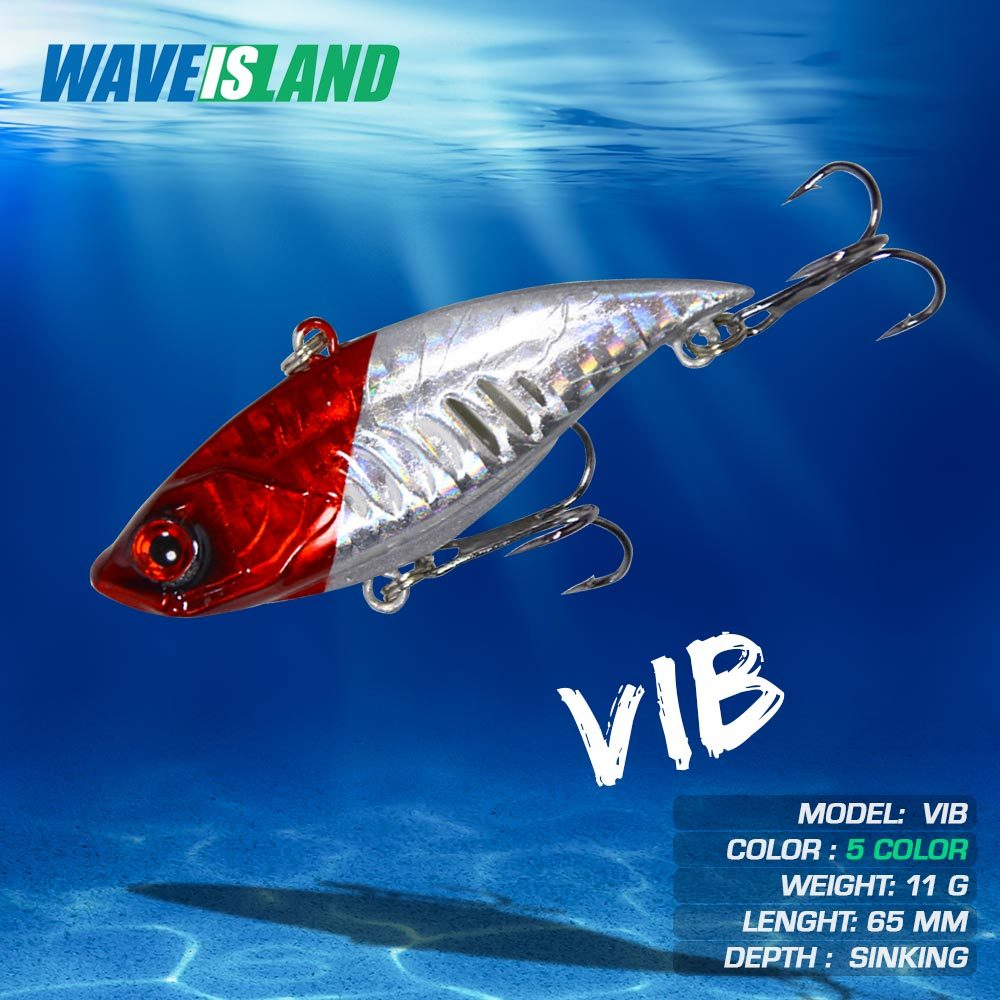 vib fishing lure weights12 8g luya hard baits vibration sinking full swimming lures pesca perch fish tackle isca artificial bait WAVEISLAND Vibration Fishing Lure 6.5cm 11g Sinking Full In Water Baits Whopper Perch Pike Fish Tackle Isca Artificial Lures
