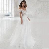 wedding dress off the shoulder appliqued bride dresses a line elegant lace wedding bridal gowns 2020 vestido de noiva brautkleid
