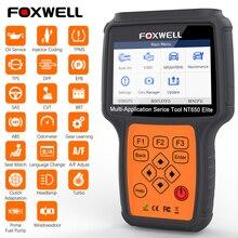 FOXWELL NT650 Elite professionnel OBD2 voiture outils de Diagnostic système complet EPB TPMS ABS SAS DPF huile réinitialiser OBD 2 Scanner automobile