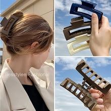 1 pz coreano solido grandi artigli per capelli eleganti opachi forcine Barrette granchio clip di capelli copricapo per le donne accessori per capelli ragazze