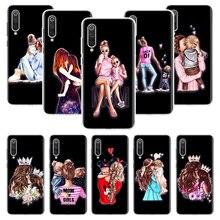 Vogue Black Brown Hair Baby Mom Girl Queen Case for Xiaomi Redmi Note 9 9S 8 7 6 8T 8A 7A 6A S2 K30 K20 MI 9 8 CC9 F1 Lite Pro S