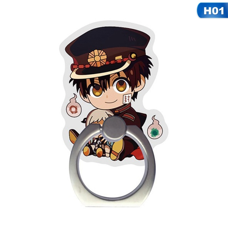 Soporte para teléfono móvil de alta calidad, soporte de anillo para dedo para teléfono Hanako-kun atado al inodoro Anime