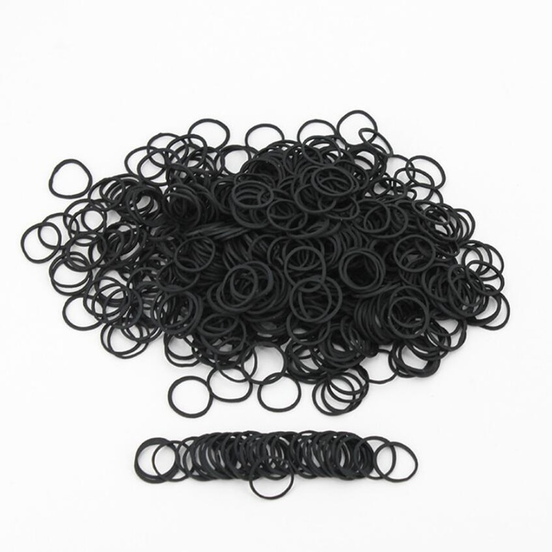 06*0.9 Mini Rubber Bands Soft Elastic Bands for Kid Hair Braids Hair BandsSchool Office Home Supplie