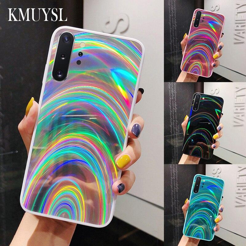 Espejo Arco Iris caso para Samsung Galaxy A30S A20 A51 A71 A50 A70 J6 A6 A9 A7 2018 S8 S9 S10 S20 Ultra Nota 8 9 10 Plus S10E cubierta
