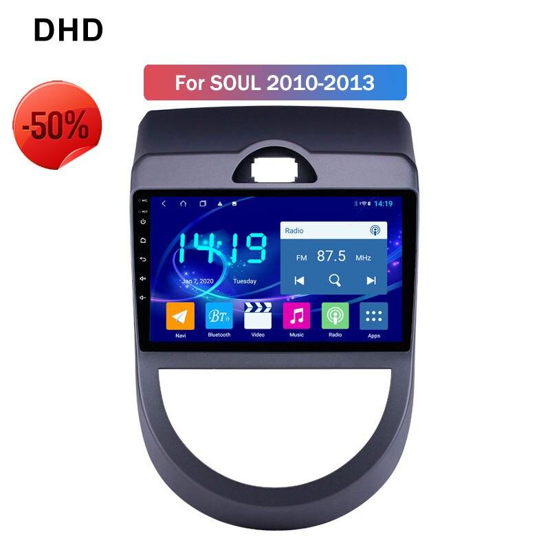4GB de Ram Android 9,0 Car Radio GPS reproductor Multimedia para 2010, 2011, 2012, 2013 Kia Soul USB AUX DVR SWC de La edición Deluxe de la unidad