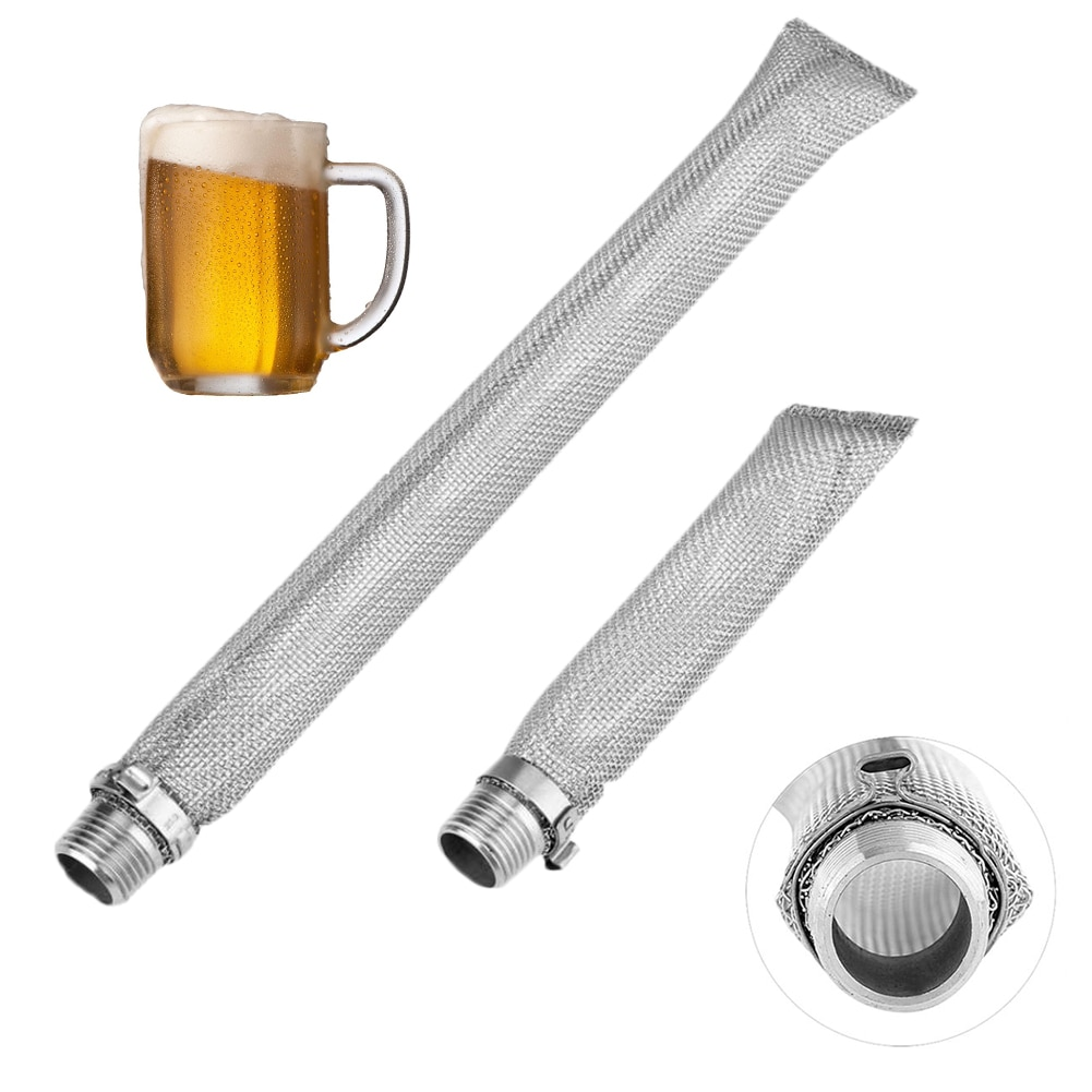 Mash Tun hilo casa vino reutilizable herramientas de cervecería de cerveza de acero inoxidable Filtro de filtro de agua de malla de multifunción pantalla bazooka