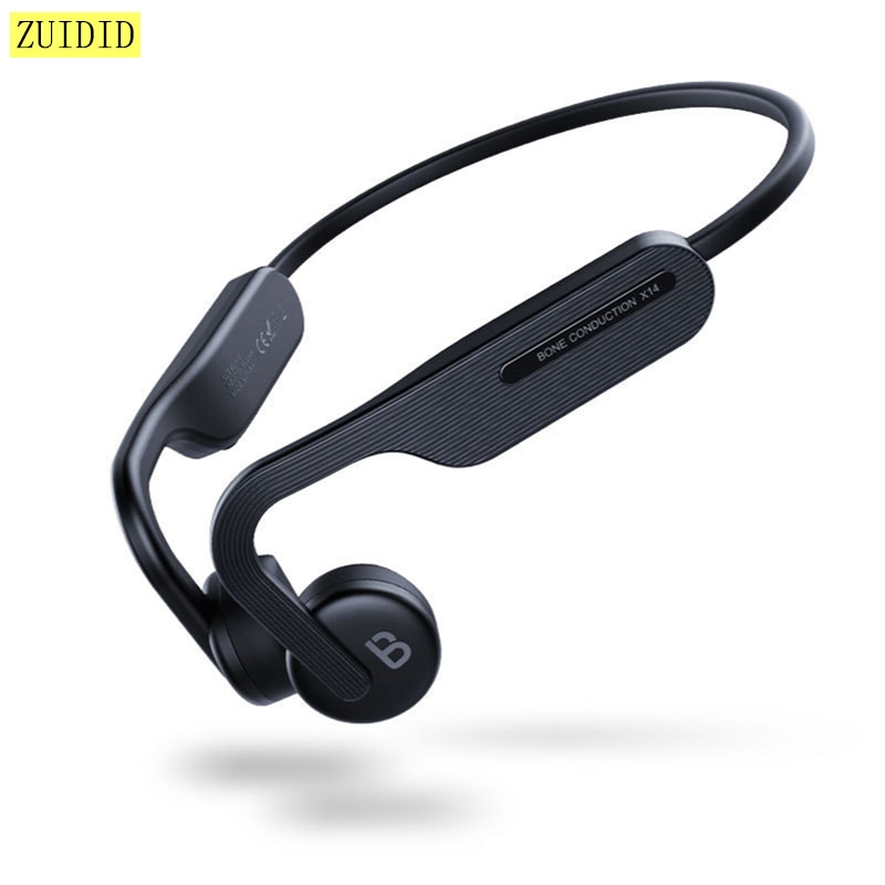 X14 Wireless Bluetooth Bone Conduction Earphone Stereo Earbud Sport Waterproof Sweatproof Headphones With Microphone mini translate bluetooth microphone wireless earphone sport stereo earbud upport 24 languages immediate interpretor for iphone