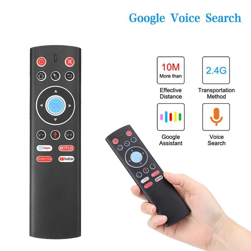 Mini 2.4G Wireless Air Mouse Voice Control Gyro IR Remote For X88 PRO H96 HK1 T95 MAX Q Plus TX6 TV BOX GooglePlay Store Youtube