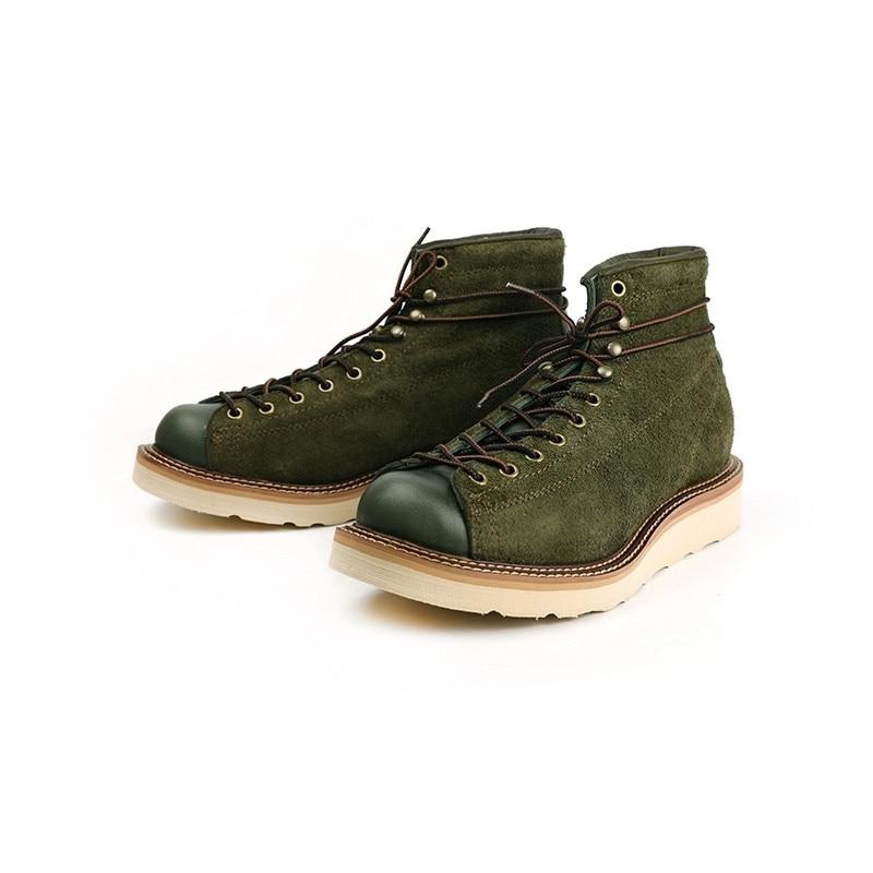 أحذية رجالية كلاسيكية مصنوعة يدويًا ، أحذية جلدية حقيقية عالية الجودة ، أدوات بمقدمة مستديرة ، أحذية للدراجات النارية ، منصة