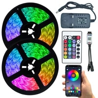 led lights strip neon sign rgb 2835 bluetooth waterproof color changing flexible ribbon tape diode desktop christmas decoration