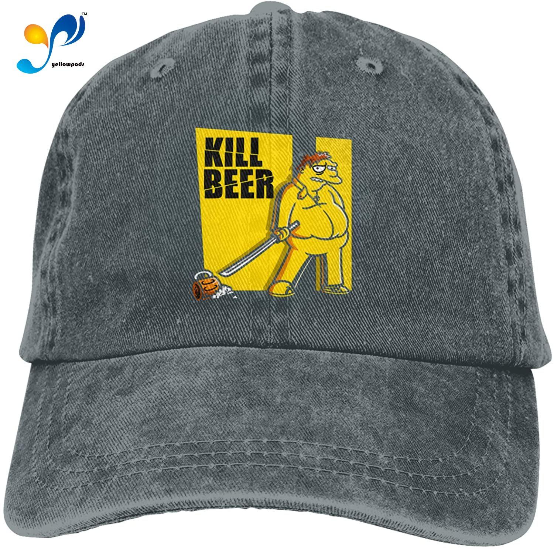 Kill Beer Hat Vintage Denim Baseball Caps Cotton Dad Hat Adjustable Sandwich Hat