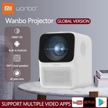 Мини проектор Xiaomi глобальная версия Wanbo T2 Max LCD 1080P HD вход для всех стеклянных линз Вертикальная коррекция