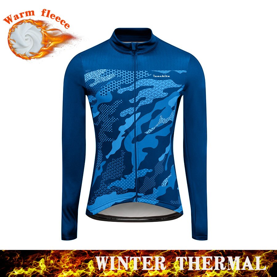 Runchita-maillot de ciclismo para invierno, maillot de manga larga, ropa térmica de...