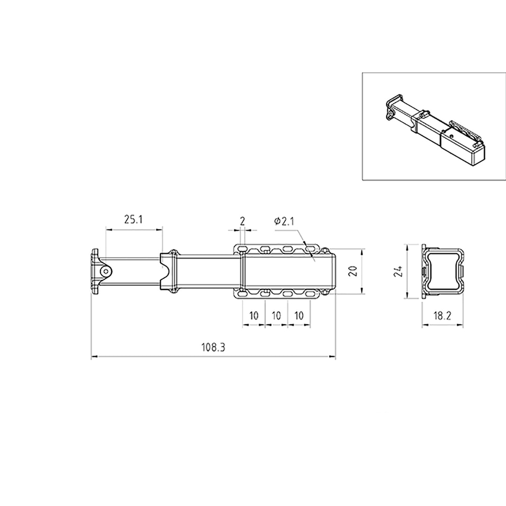 Metal Electric Lifting Legs Electric Support Legs for 1/14 RC Hydraulic Trailer Modification Part enlarge