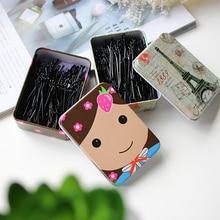 Boxed Black Clip Word Clip Korean Hairpin Children's Little Clip Hair Accessories Headdress Bang Cli