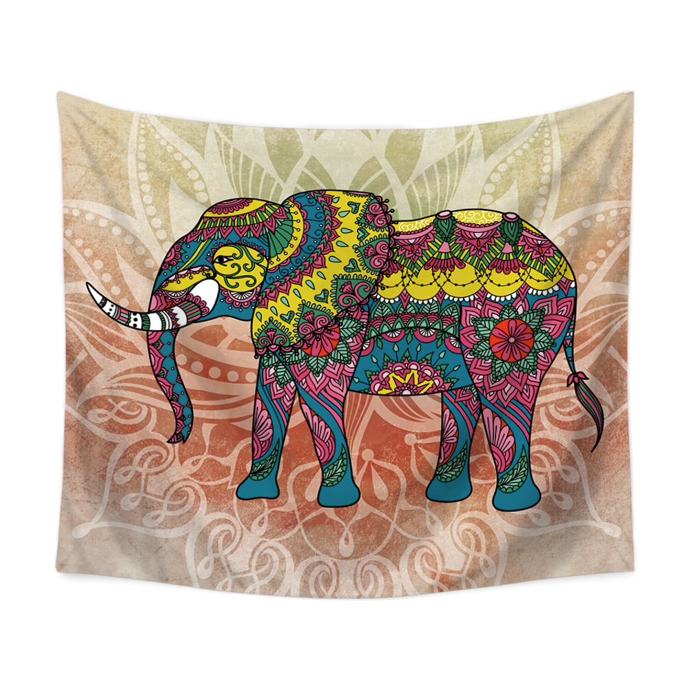 PLstar Cosmos Watercolor Elephants Tapestry 3D Printing Tapestrying Rectangular Home Decor Wall Hanging New style-5