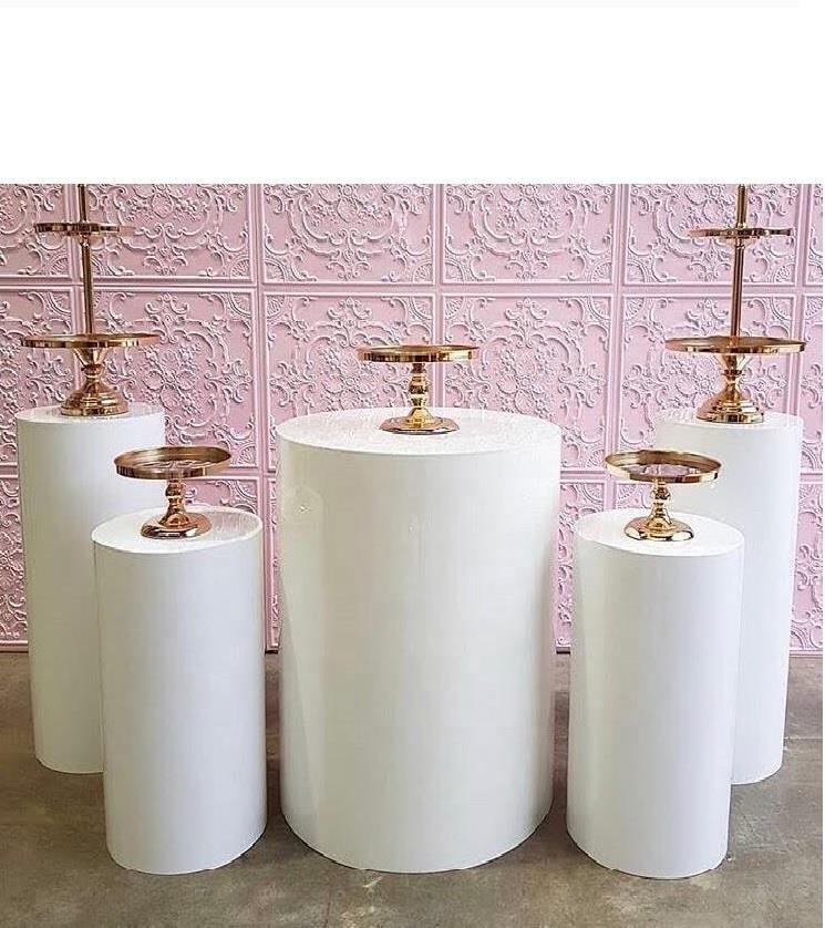 Runde Zylinder Sockel Display Kunst Kuchen Decor Rack Plinths Säulen für DIY Hochzeit Dekorationen Urlaub