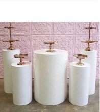Round Cylinder Pedestal Display Art Decor Cake Rack Plinths Pillars for DIY Wedding Decorations Holiday