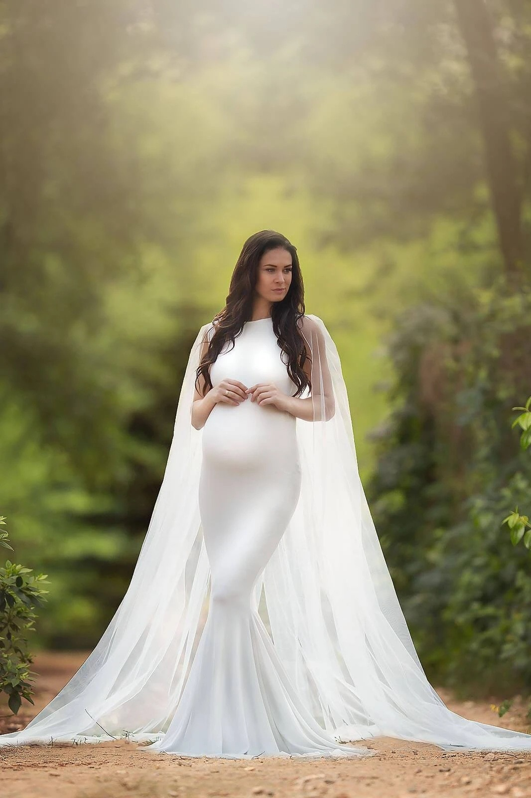 Tulle Shawl Maternity Dresses For Photo Shoot Sexy Fancy Pregnancy Maxi Gown Elegence Long Pregnant Women Photography Props 2021 enlarge