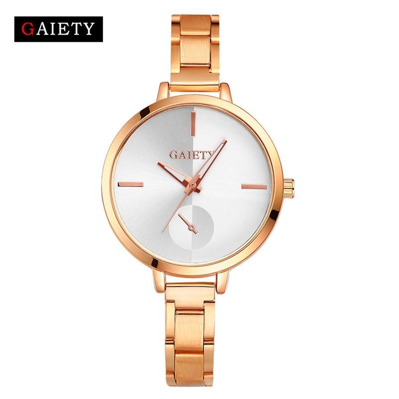 Relógio feminino moda feminina pequena liga de aço materiais banda corrente analógico quartzo redondo relógio de pulso relógios relogio feminino #3