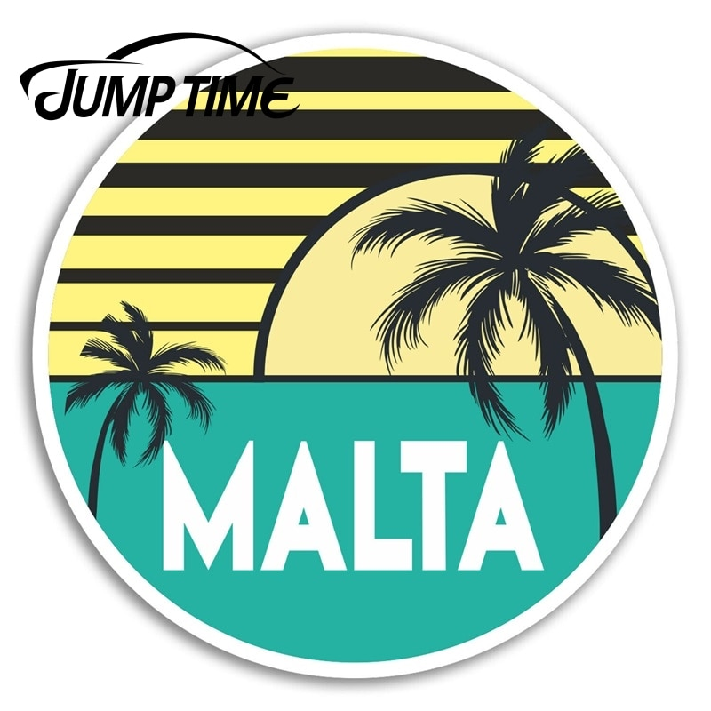 Jump Time for Malta Vinyl Stickers Holiday Fun Travel Sticker Laptop Luggage Decal Window Tank Waterproof Car Decoration