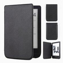 Funda delgada de cuero para Pocketbook Touch Lux 4 627 HD3 632 Basic2 616 Ereader + película de pantalla envío gratis