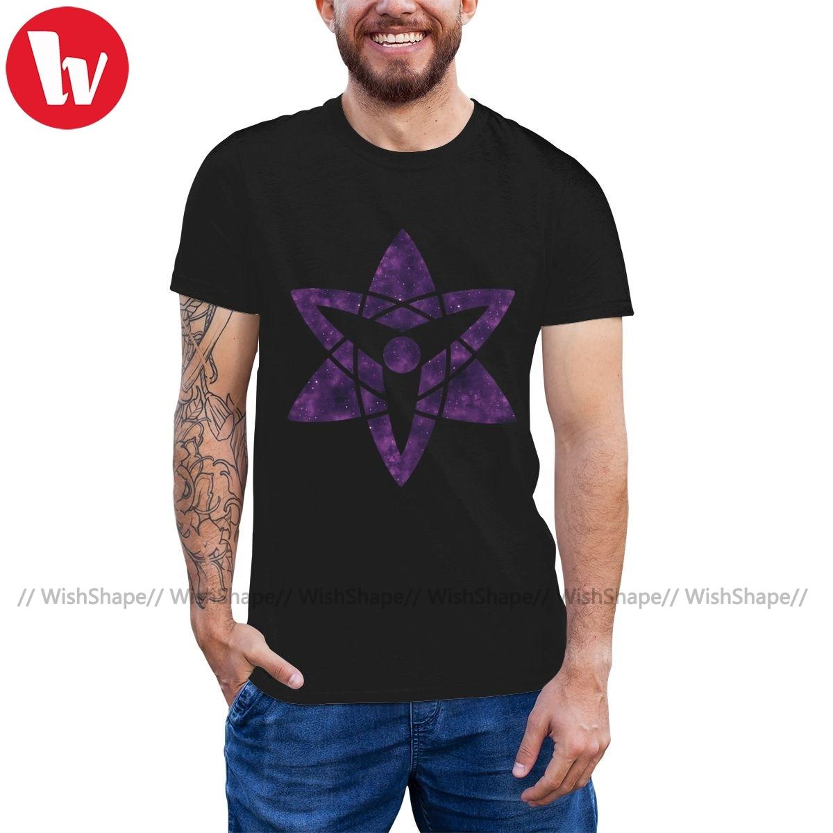 Sasuke Sharingan T-shirt Naruto Sasuke Uchiha Sharingan T-Shirt Herren 100 Prozent Baumwolle T-shirt T-shirt